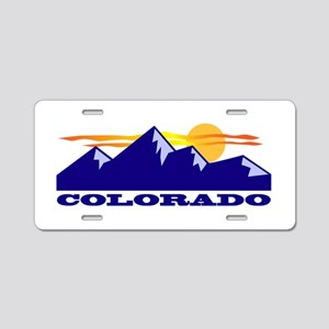 Colorado Rocky Mountains Aluminum License Plate