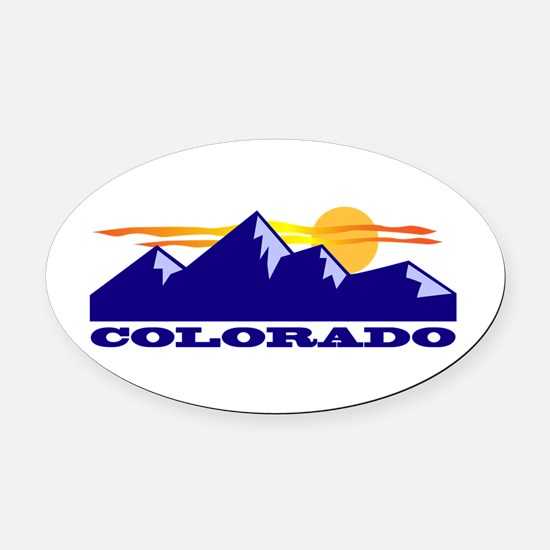 Colorado Rocky Mountains Oval Car Magnet