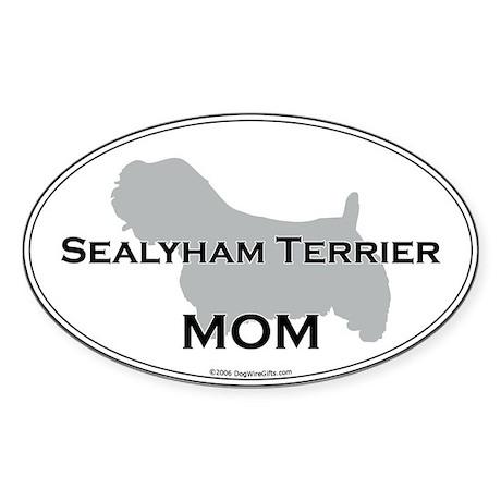 Sealyham Terrier MOM Oval Sticker