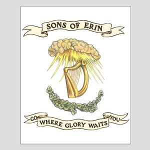 Sons of Erin Sun Rays Harp Posters