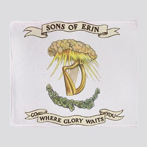 Sons of Erin Sun Rays Harp Throw Blanket
