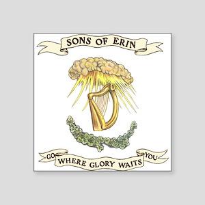 Sons of Erin Sun Rays Harp Sticker