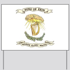Sons of Erin Sun Rays Harp Yard Sign