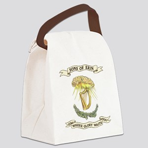 Sons of Erin Sun Rays Harp Canvas Lunch Bag