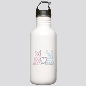 Cats in Love Stainless Water Bottle 1.0L