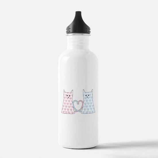 Cats in Love Water Bottle