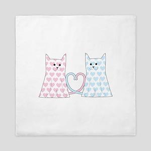 Cats in Love Queen Duvet