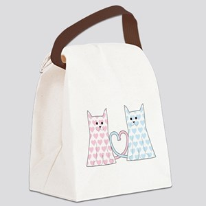 Cats in Love Canvas Lunch Bag