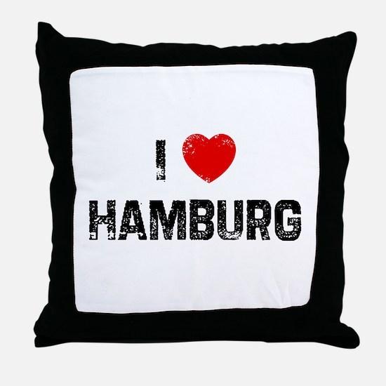 I * Hamburg Throw Pillow