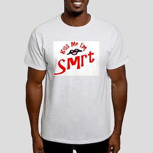Kiss Me I'm Smrt Ash Grey T-Shirt