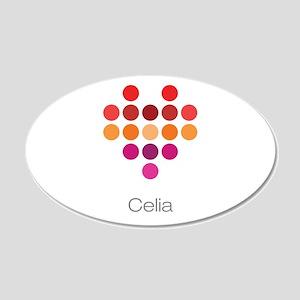 I Heart Celia Wall Decal