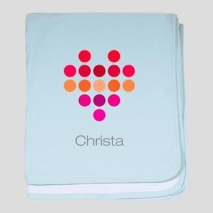 I Heart Christa baby blanket
