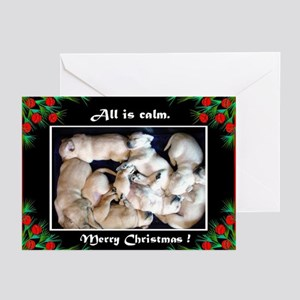 All is calm Puppy Christmas Cards (Pk of 10)