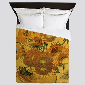 Sunflowers by Van Gogh Queen Duvet