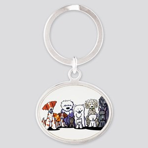 Usual Suspects Oval Keychain