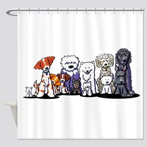 Usual Suspects Shower Curtain