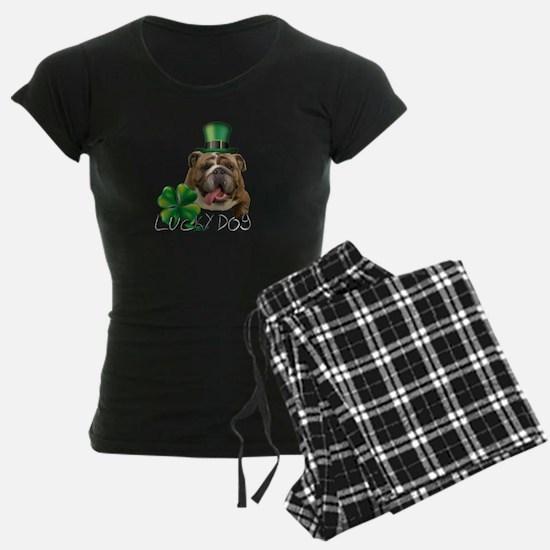 St. Patricks Day bulldog Pajamas