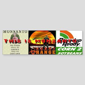 Dump Monsanto Bumper Sticker