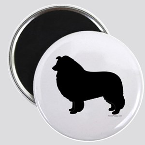 Rough Collie Silhouette Magnet