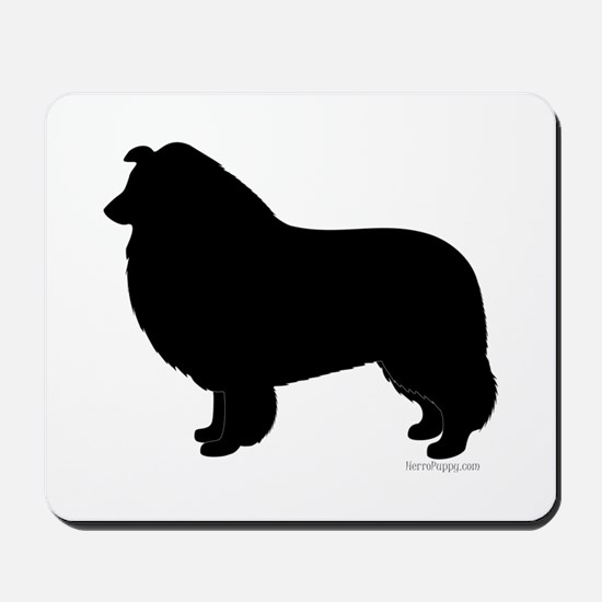 Rough Collie Silhouette Mousepad