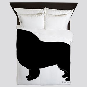 Rough Collie Silhouette Queen Duvet