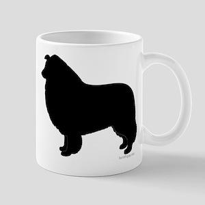 Rough Collie Silhouette Mug