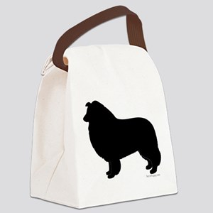 Rough Collie Silhouette Canvas Lunch Bag