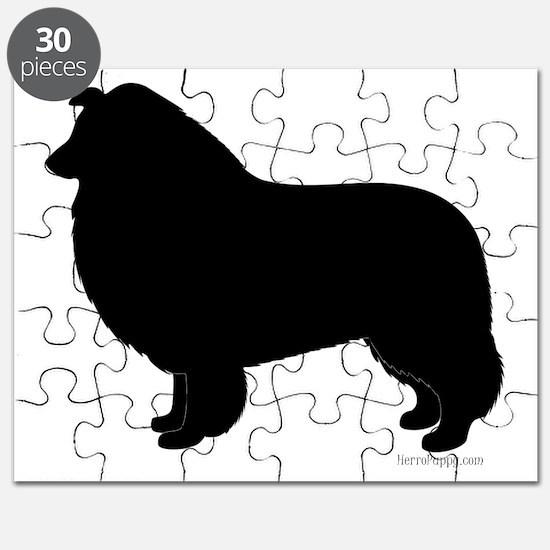 Rough Collie Silhouette Puzzle