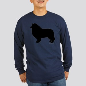 Rough Collie Silhouette Long Sleeve T-Shirt