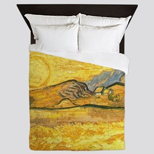 Wheatfield by Van Gogh Queen Duvet