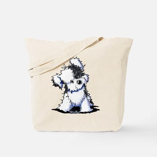 Curious BW Havanese Tote Bag