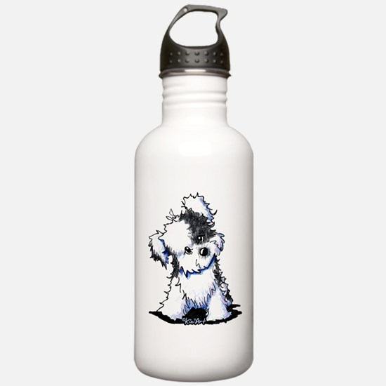 Curious BW Havanese Water Bottle