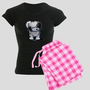 B/W Havanese Cutie Women's Dark Pajamas