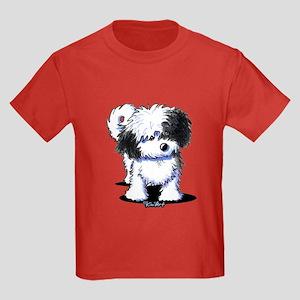 B/W Havanese Cutie Kids Dark T-Shirt