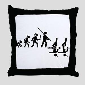 Synchronized Swimming Throw Pillow