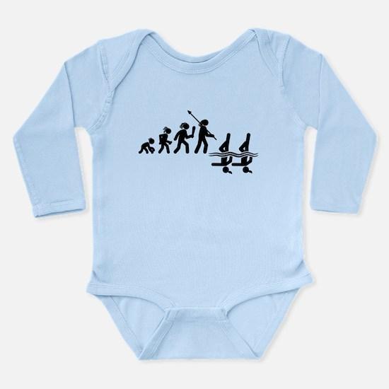 Synchronized Swimming Long Sleeve Infant Bodysuit