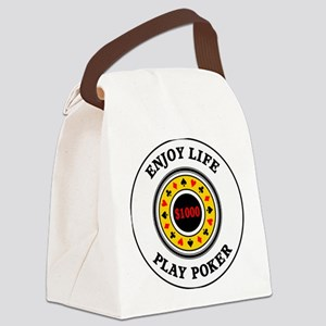 poker3 Canvas Lunch Bag