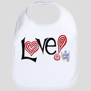 Love - WordWhirlz Bib