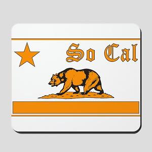so cal bear orange Mousepad