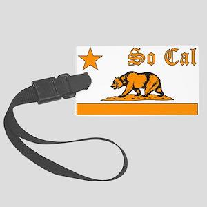 so cal bear orange Luggage Tag