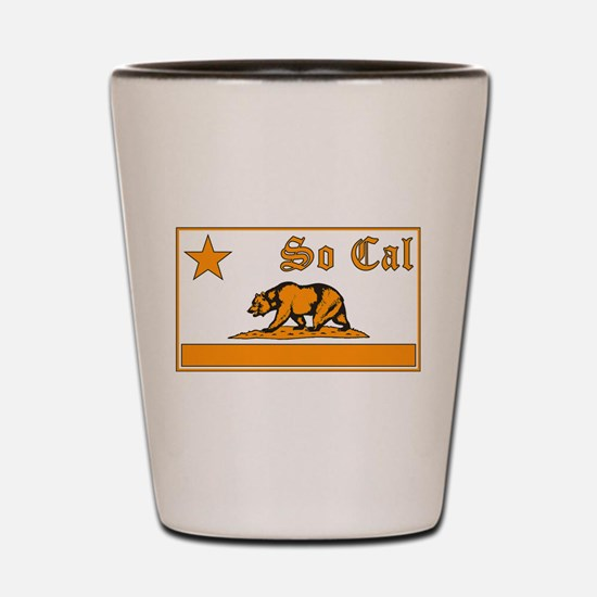 so cal bear orange Shot Glass
