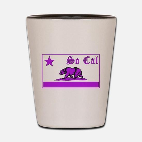 so cal bear purple Shot Glass