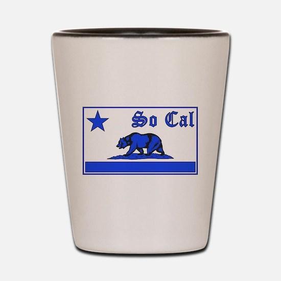 so cal bear blue Shot Glass