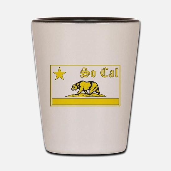 so cal bear yellow Shot Glass