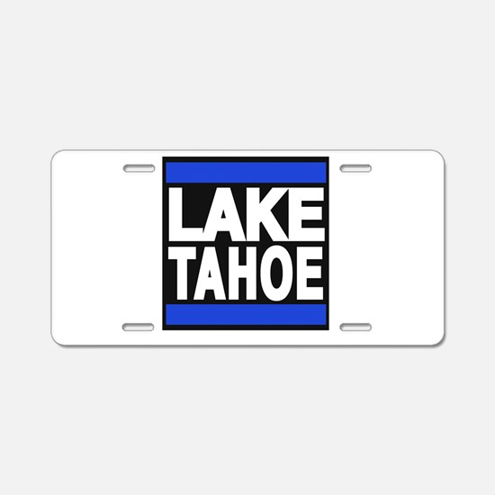 lake tahoe blue Aluminum License Plate