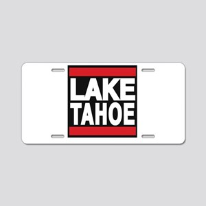 lake tahoe red Aluminum License Plate