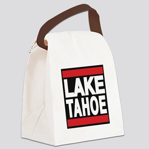 lake tahoe red Canvas Lunch Bag