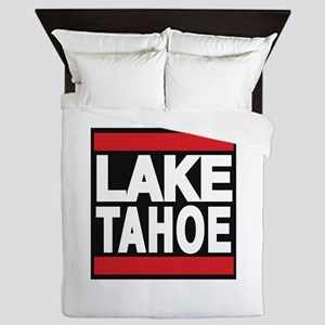 lake tahoe red Queen Duvet