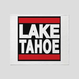 lake tahoe red Throw Blanket