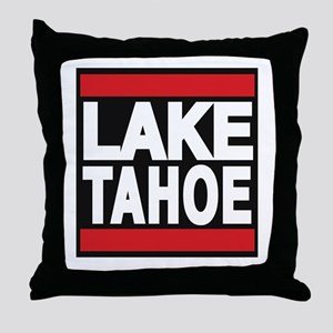 lake tahoe red Throw Pillow
